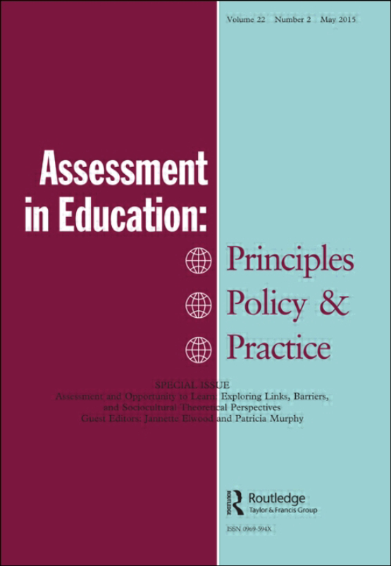 Cover image - Assessment in Education: Principles, Policy & Practice