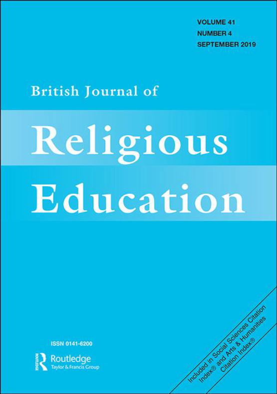 Cover image - British Journal of Religious Education