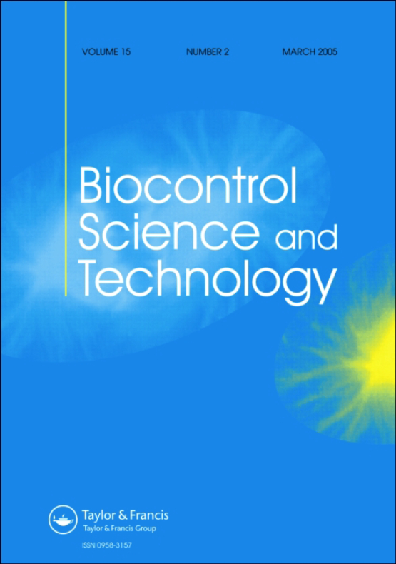 Cover image - Biocontrol Science and Technology