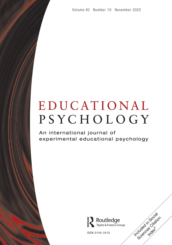 Cover image - Educational Psychology: An International Journal of Experimental Educational Psychology