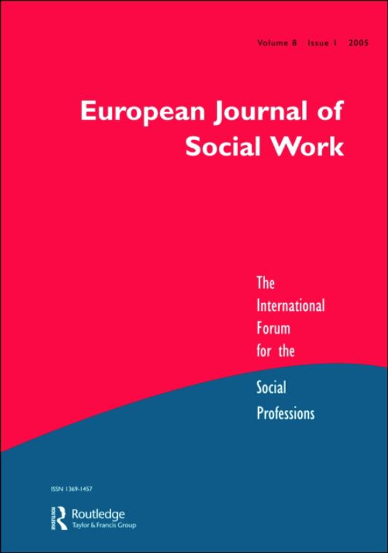 Cover image - European Journal of Social Work