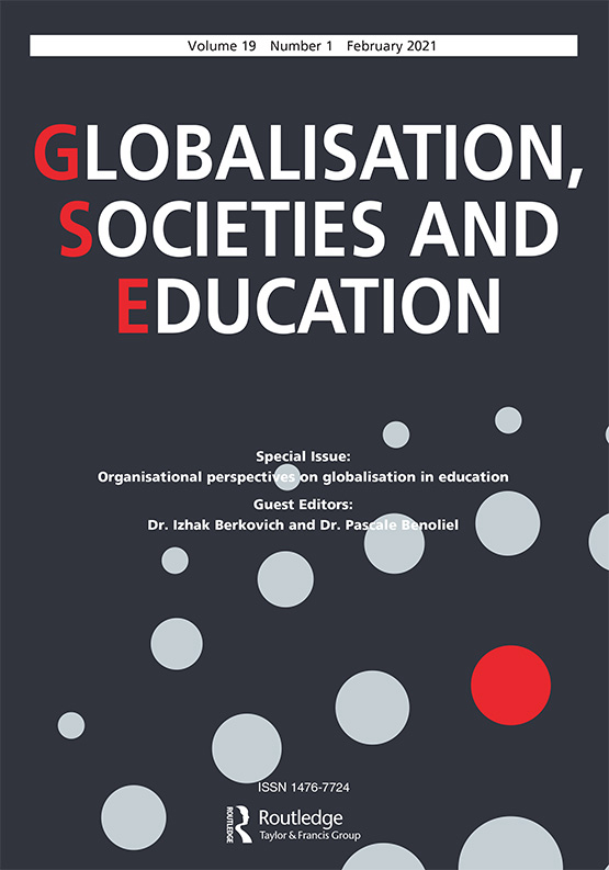 Cover image - Globalisation, Societies and Education
