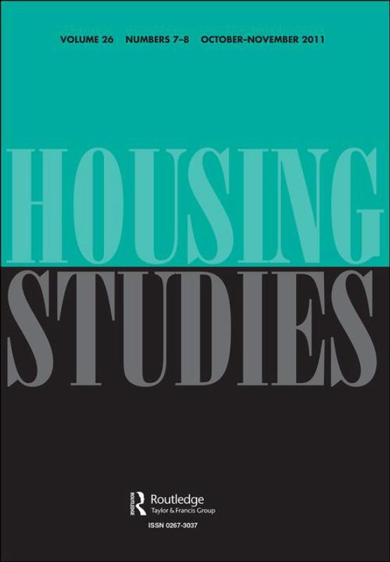 Cover image - Housing Studies