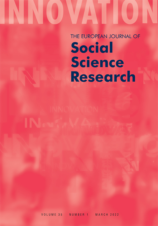 Cover image - Innovation: The European Journal of Social Science Research