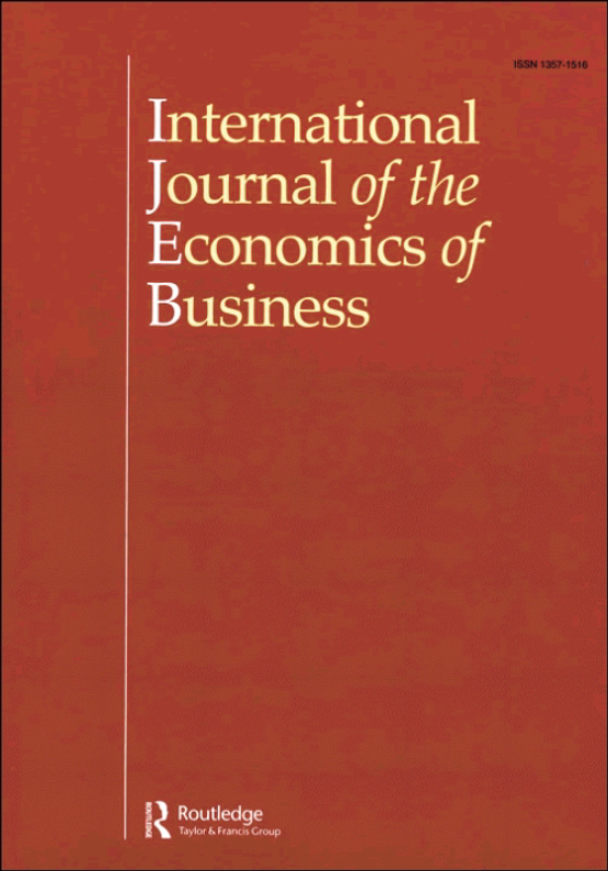 Cover image - International Journal of the Economics of Business