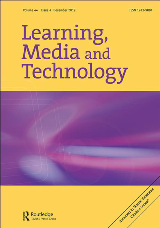 Cover image - Learning, Media and Technology