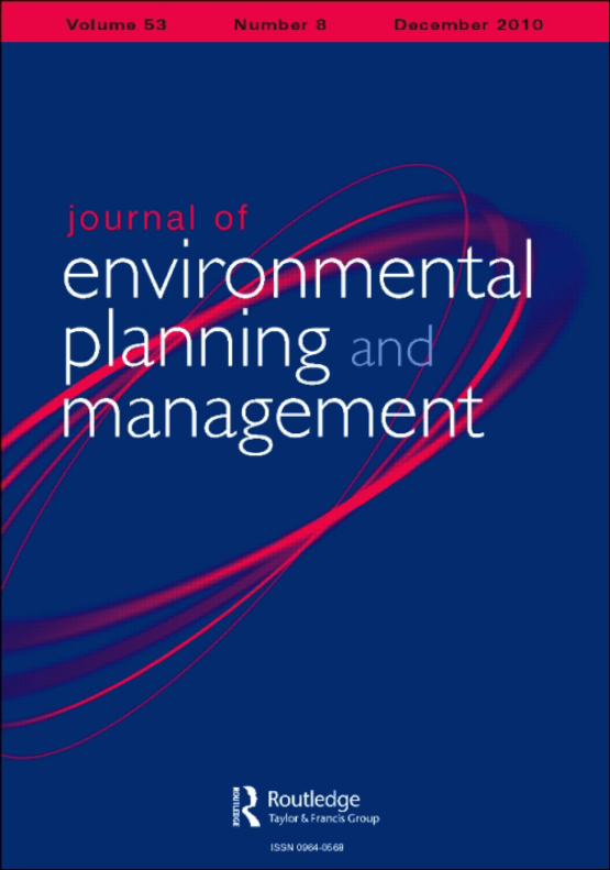 Cover image - Journal of Environmental Planning and Management