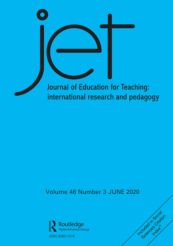 Cover image - Journal of Education for Teaching