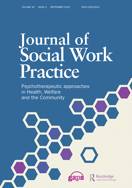Cover image - Journal of Social Work Practice