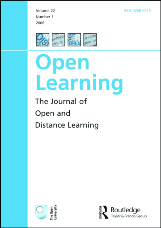 Cover image - Open Learning: The Journal of Open, Distance and e-Learning