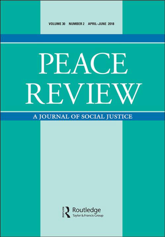 Cover image - Peace Review
