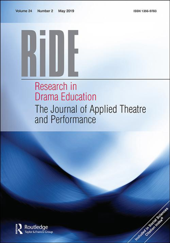 Cover image - Research in Drama Education: The Journal of Applied Theatre and Performance