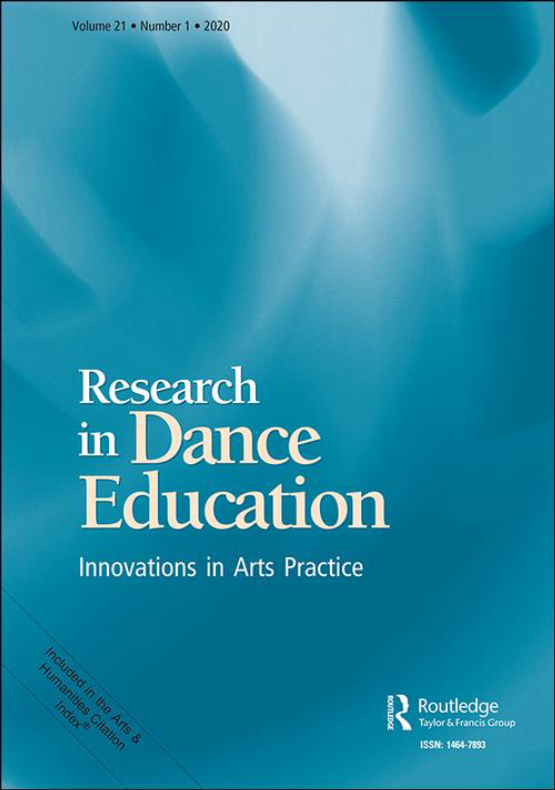 Cover image - Research in Dance Education