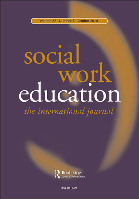 Cover image - Social Work Education