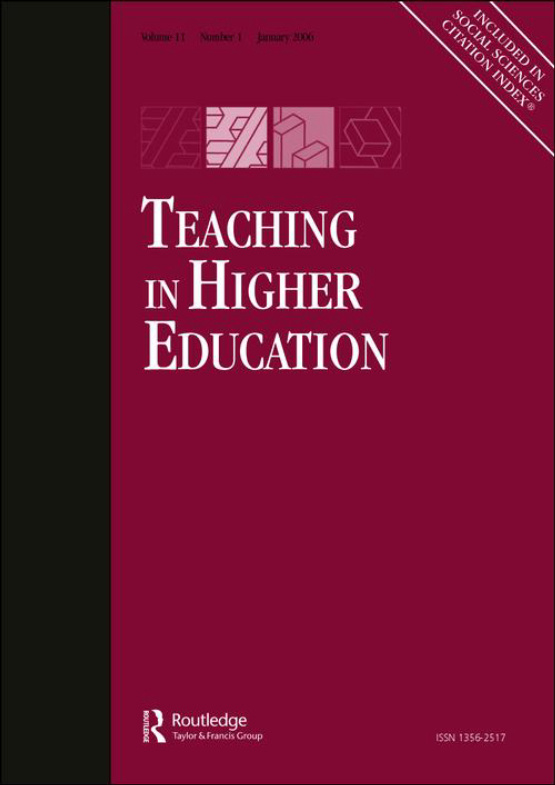 Cover image - Teaching in Higher Education