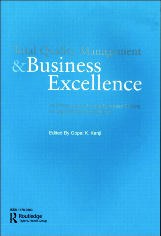 Cover image - Total Quality Management and Business Excellence