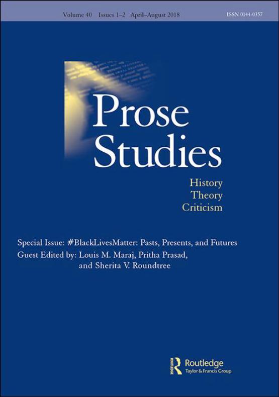 Cover image - Prose Studies