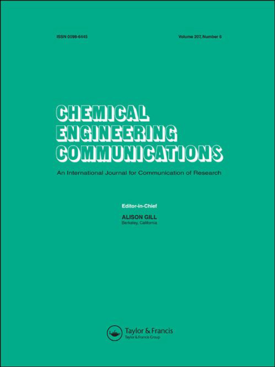 Cover image - Chemical Engineering Communications