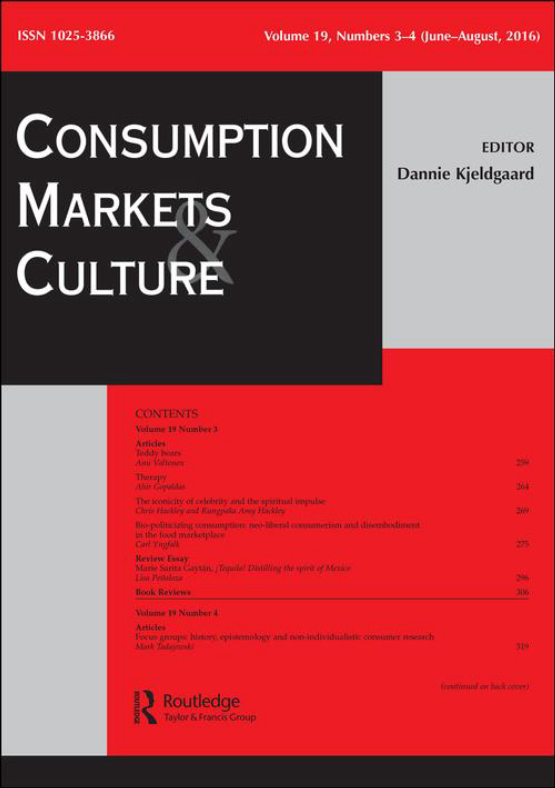 Cover image - Consumption Markets & Culture