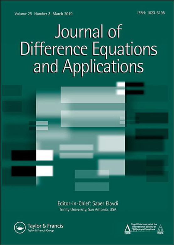 Cover image - Journal of Difference Equations and Applications