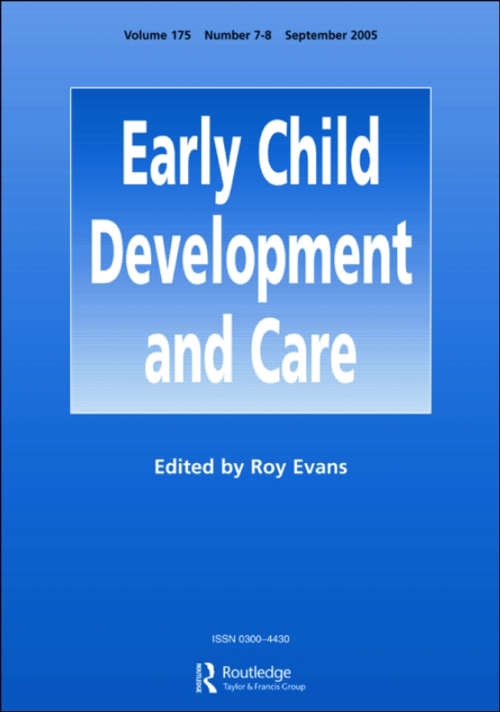 Cover image - Early Child Development and Care