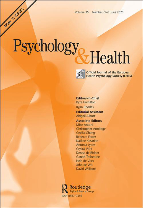 Cover image - Psychology & Health