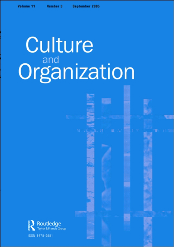 Cover image - Culture and Organization