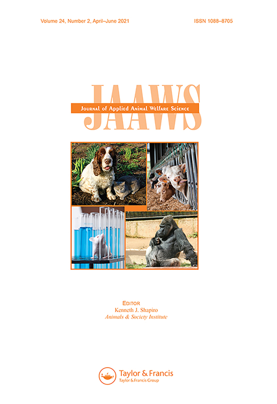Cover image - Journal of Applied Animal Welfare Science