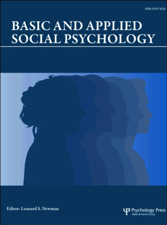 Cover image - Basic and Applied Social Psychology