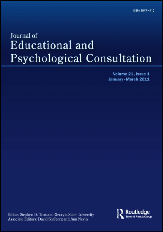 Cover image - Journal of Educational and Psychological Consultation