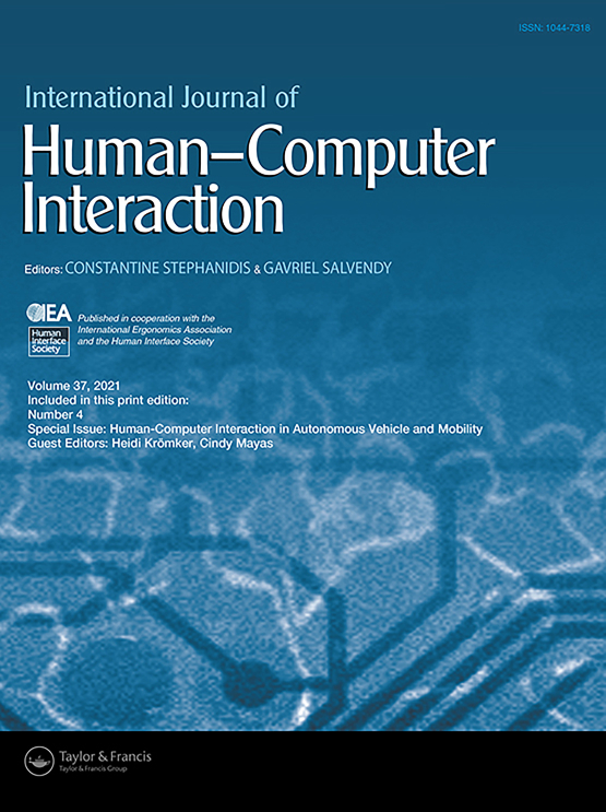 Cover image - International Journal of Human–Computer Interaction