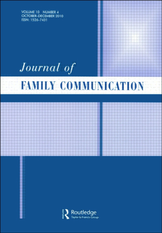 Cover image - Journal of Family Communication