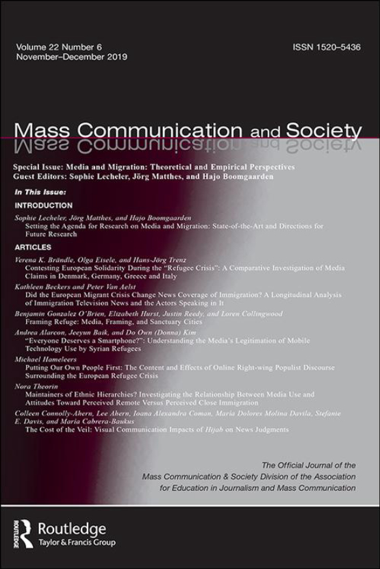 Cover image - Mass Communication and Society