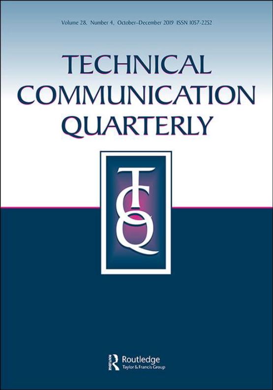 Cover image - Technical Communication Quarterly