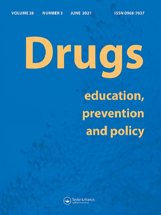 Cover image - Drugs: Education, Prevention and Policy
