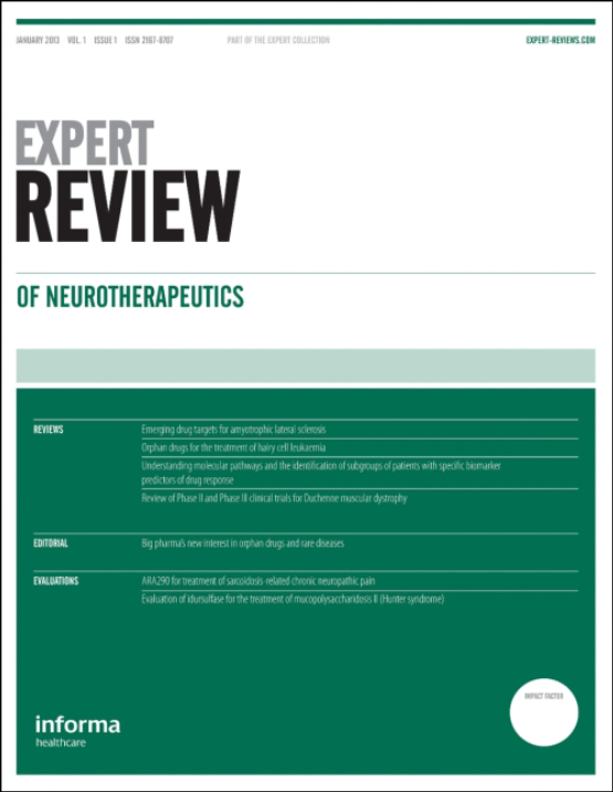 Cover image - Expert Review of Neurotherapeutics