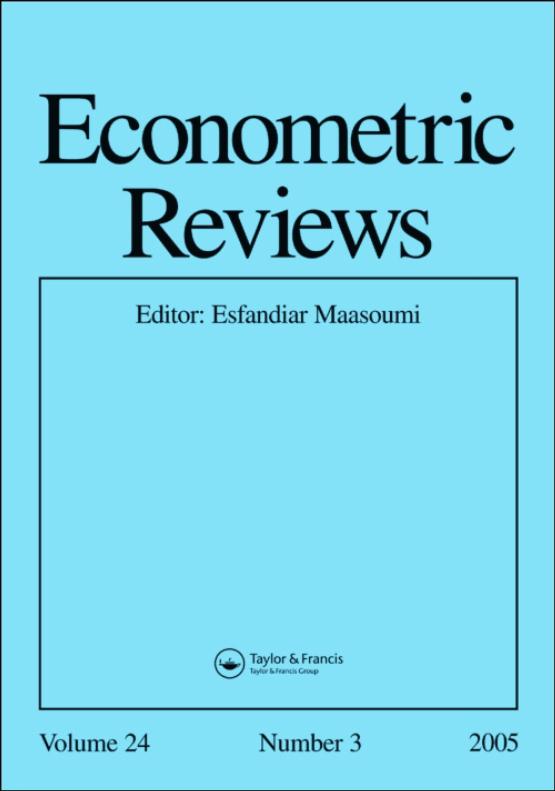 Cover image - Econometric Reviews