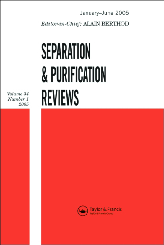 Cover image - Separation & Purification Reviews