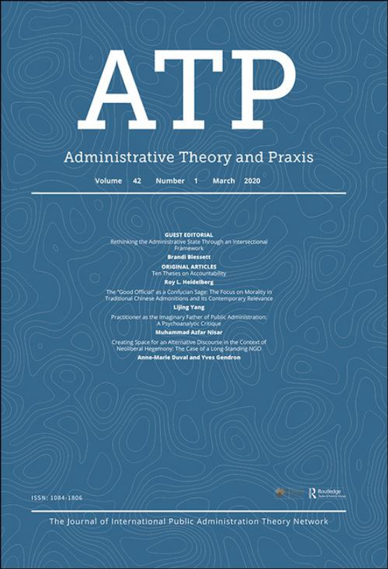 Cover image - Administrative Theory & Praxis