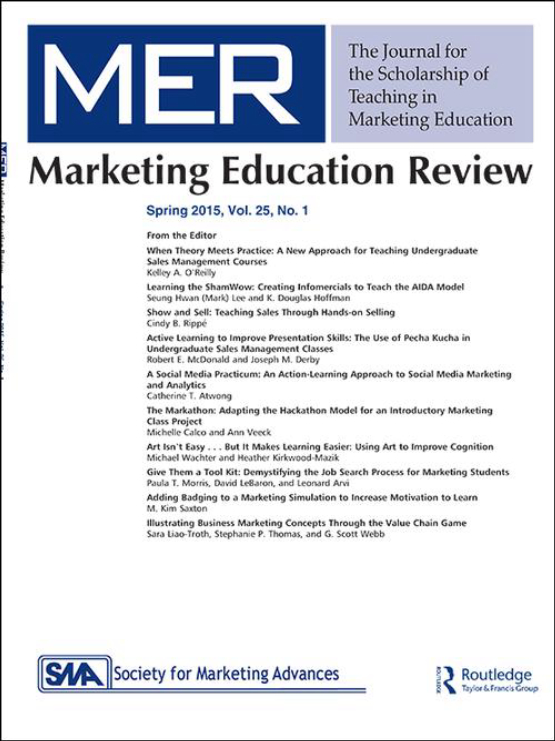 Cover image - Marketing Education Review