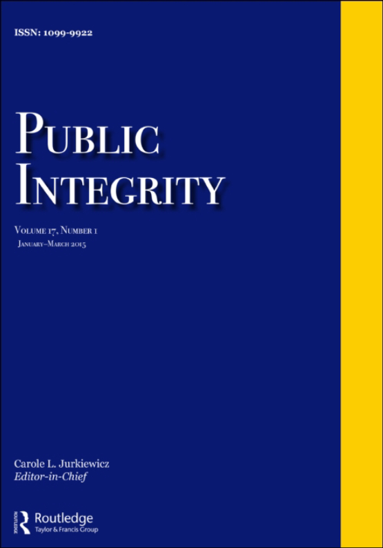 Cover image - Public Integrity