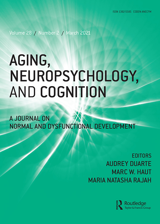 Cover image - Aging, Neuropsychology, and Cognition
