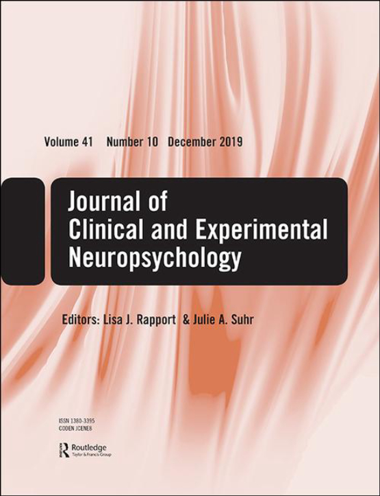 Cover image - Journal of Clinical and Experimental Neuropsychology