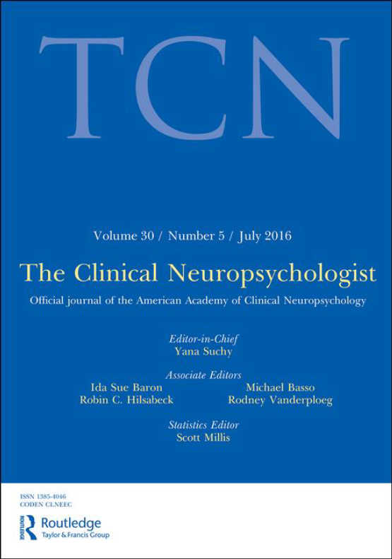 Cover image - The Clinical Neuropsychologist