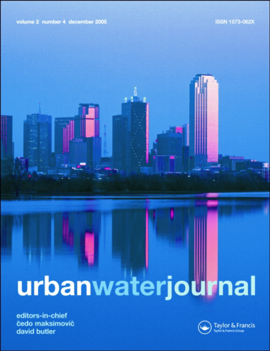 Cover image - Urban Water Journal