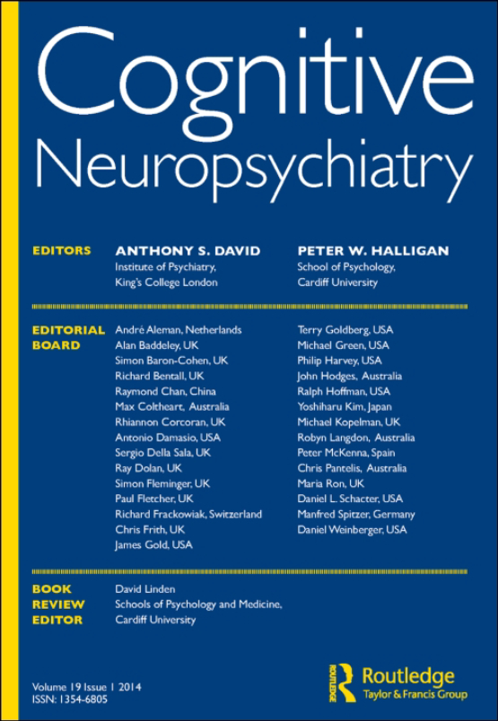 Cover image - Cognitive Neuropsychiatry