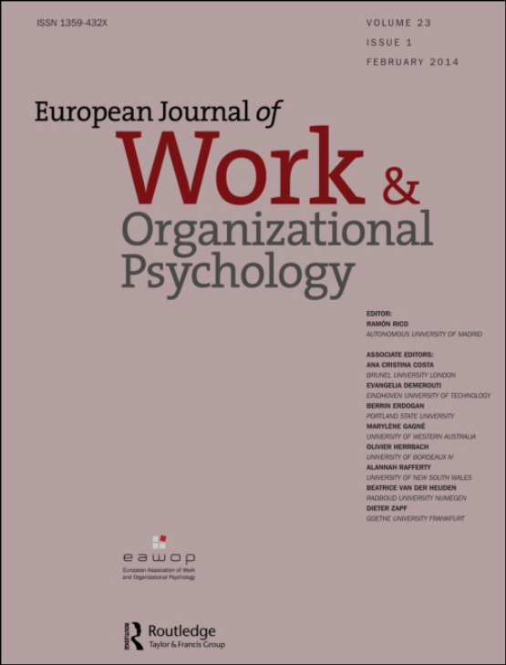 Cover image - European Journal of Work and Organizational Psychology