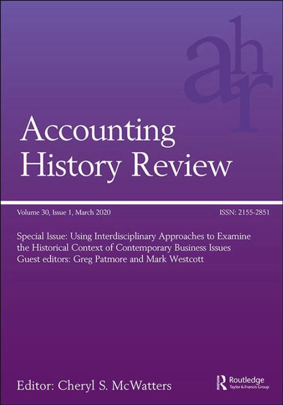 Cover image - Accounting History Review