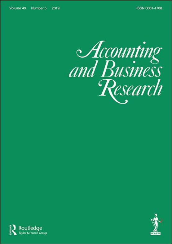 Cover image - Accounting and Business Research