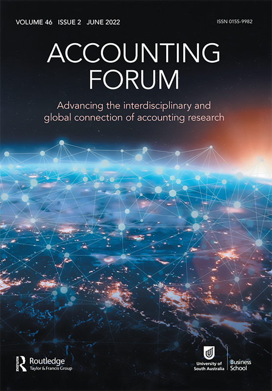 Cover image - Accounting Forum